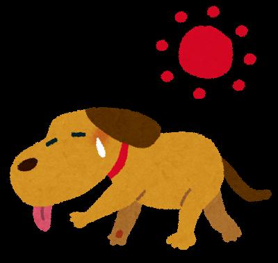 「犬 熱中症 イラスト」の画像検索結果